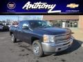 2012 Imperial Blue Metallic Chevrolet Silverado 1500 LS Extended Cab 4x4  photo #1