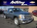 2012 Blue Granite Metallic Chevrolet Silverado 1500 LT Extended Cab 4x4  photo #1