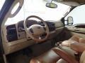 2005 Ford F250 Super Duty Castano Brown Leather Interior Prime Interior Photo