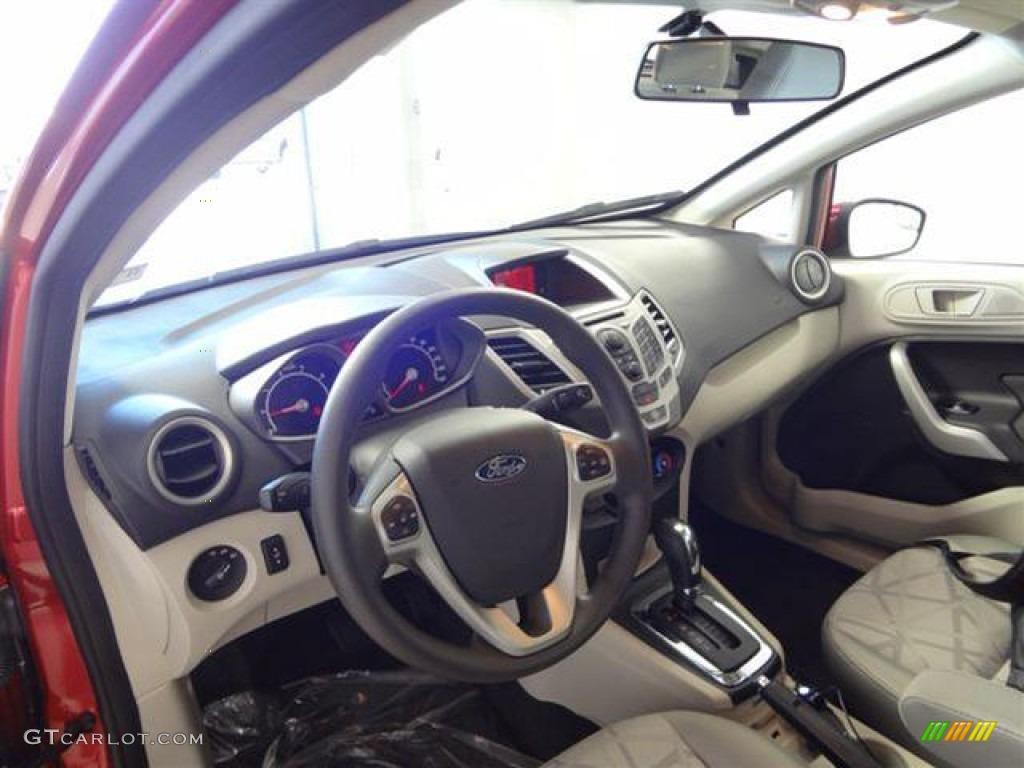 Light Stone Charcoal Black Interior 2012 Ford Fiesta Se Hatchback Photo 57403040
