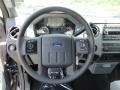 2011 Ford F250 Super Duty Steel Gray Interior Steering Wheel Photo