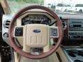 2011 Ford F250 Super Duty Chaparral Leather Interior Steering Wheel Photo