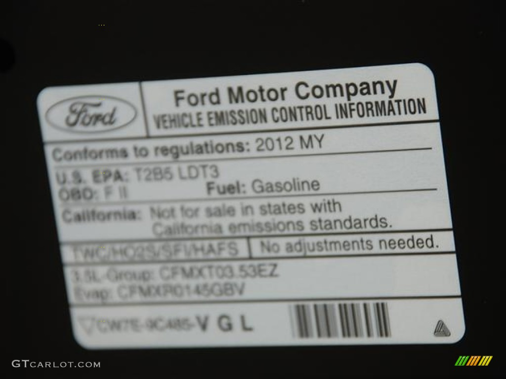 2012 ford explorer fwd emission control information photo for Ford motor company warranty information