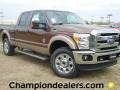 2012 Golden Bronze Metallic Ford F250 Super Duty Lariat Crew Cab 4x4  photo #1
