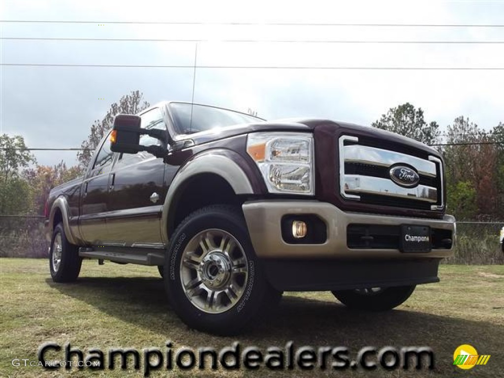 2012 autumn red metallic ford f250 super duty king ranch crew cab 4x4 57354968. Black Bedroom Furniture Sets. Home Design Ideas