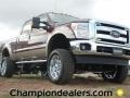 2012 Autumn Red Metallic Ford F250 Super Duty Lariat Crew Cab 4x4  photo #1