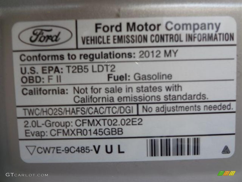 ford emissions label pictures to pin on pinterest