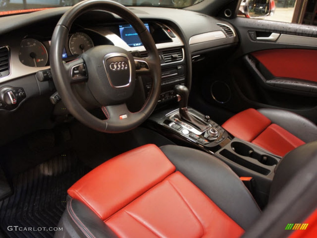 Black Red Interior 2010 Audi S4 3 0 Quattro Sedan Photo