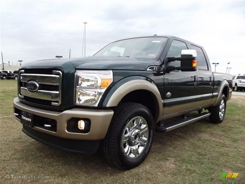 2012 forest green metallic ford f250 super duty king ranch crew cab 4x4 57440224. Black Bedroom Furniture Sets. Home Design Ideas