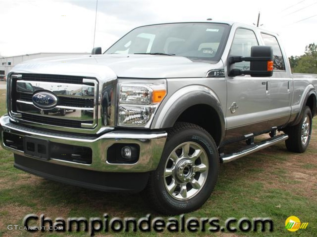 2012 ingot silver metallic ford f250 super duty lariat crew cab 4x4 57440222. Black Bedroom Furniture Sets. Home Design Ideas