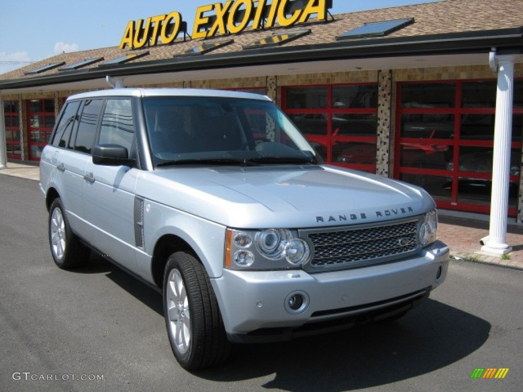 2007 Range Rover HSE - Zermatt Silver Metallic / Charcoal photo #1