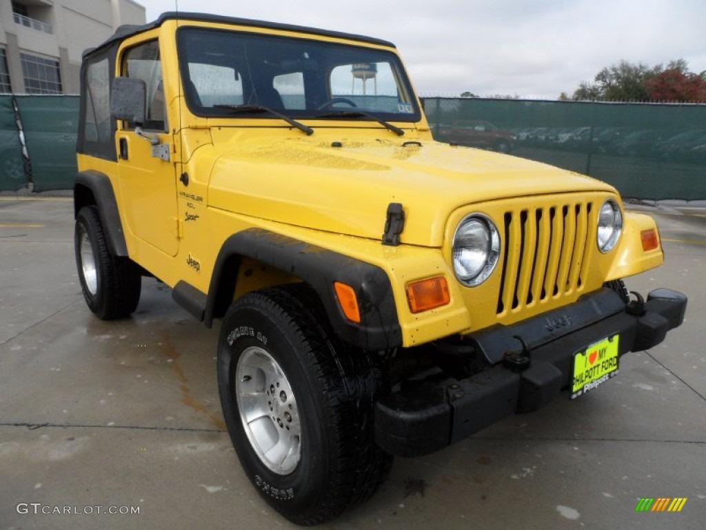 Solar Yellow 2000 Jeep Wrangler Sport 4x4 Exterior Photo ...