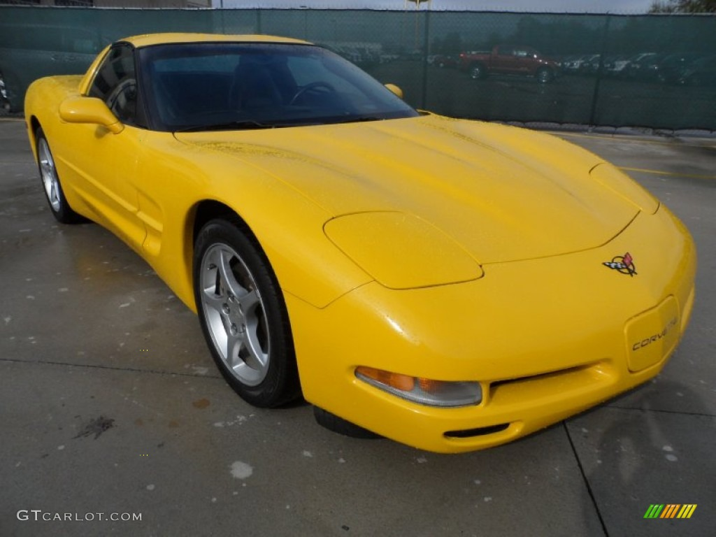 Millenium yellow chevrolet corvette