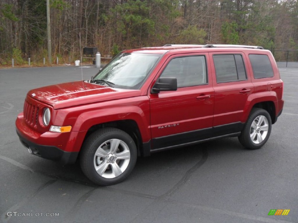 2012 deep cherry red crystal pearl jeep patriot limited #57447324