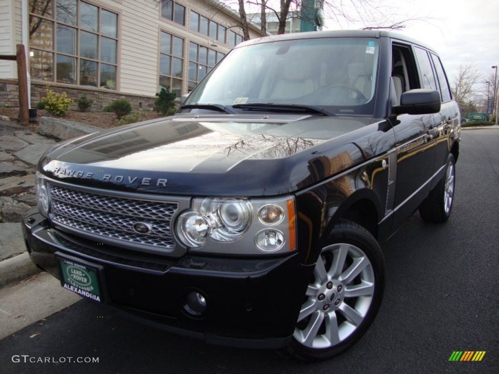 2007 Range Rover Supercharged - Java Black Pearl / Ivory/Black photo #1