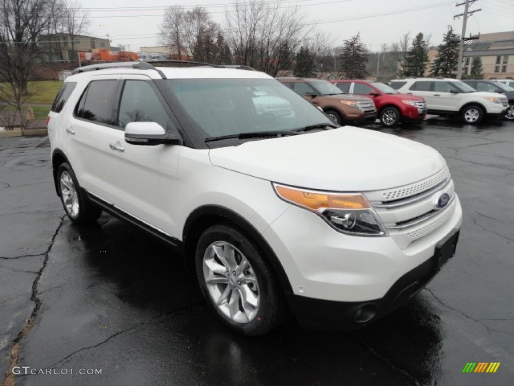 2012 explorer limited 4wd white platinum tri coat charcoal blackpecan photo - Ford Explorer 2012 Black