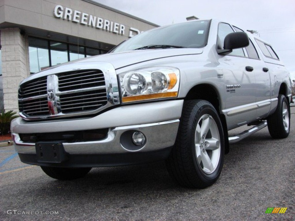 2006 Ram 1500 Big Horn Edition Quad Cab 4x4 - Bright Silver Metallic / Medium Slate Gray photo #1