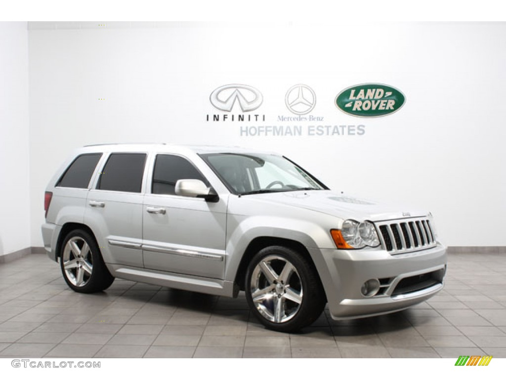 2008 bright silver metallic jeep grand cherokee srt8 4x4 #57486942