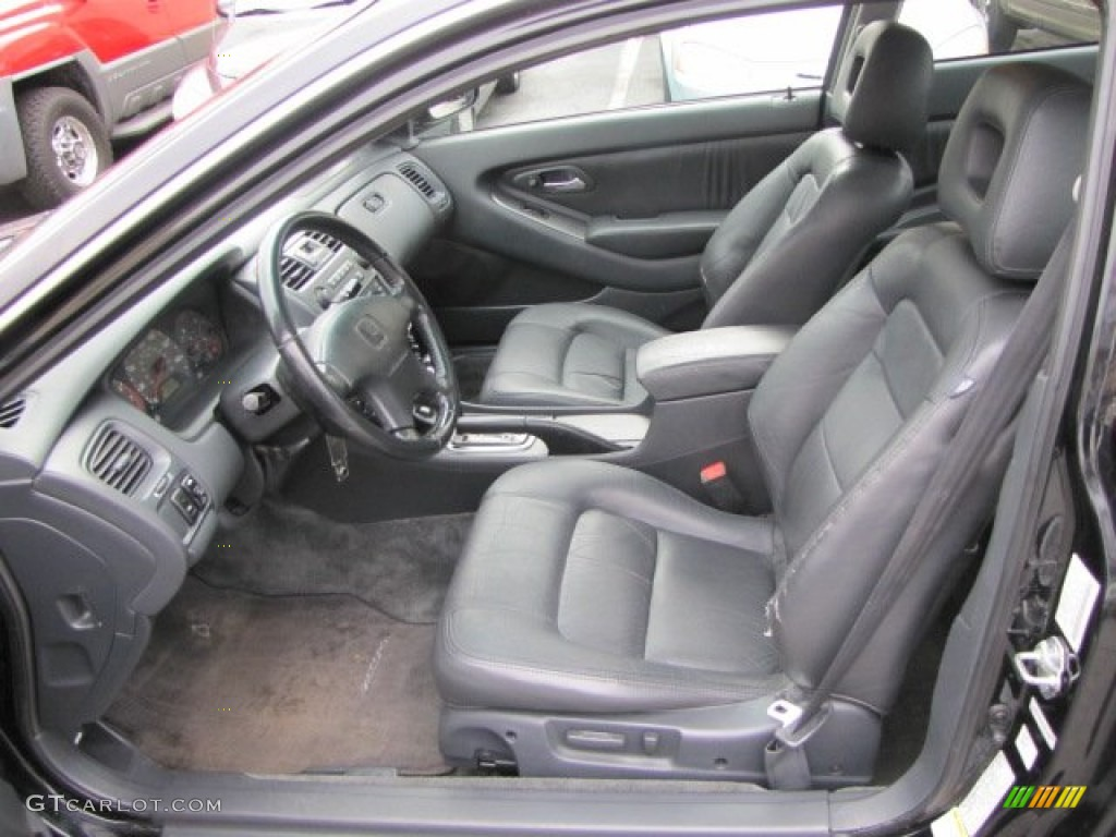 Black Interior 2002 Honda Accord EX Coupe Photo #57513668