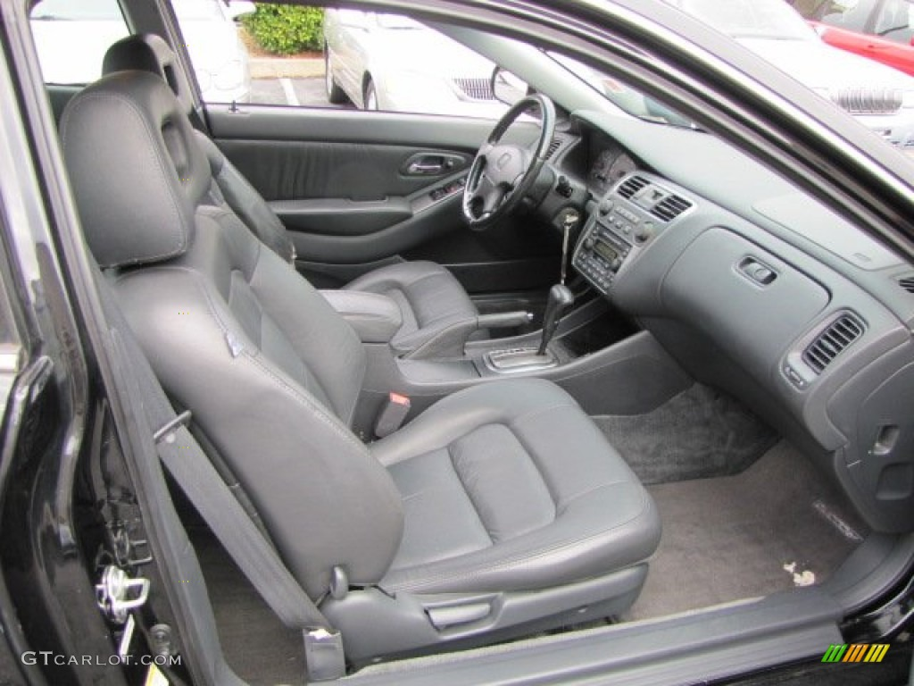 Black Interior 2002 Honda Accord EX Coupe Photo #57513695