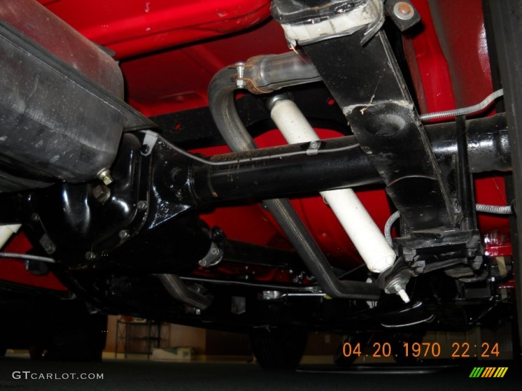 1956 ford thunderbird roadster undercarriage photo