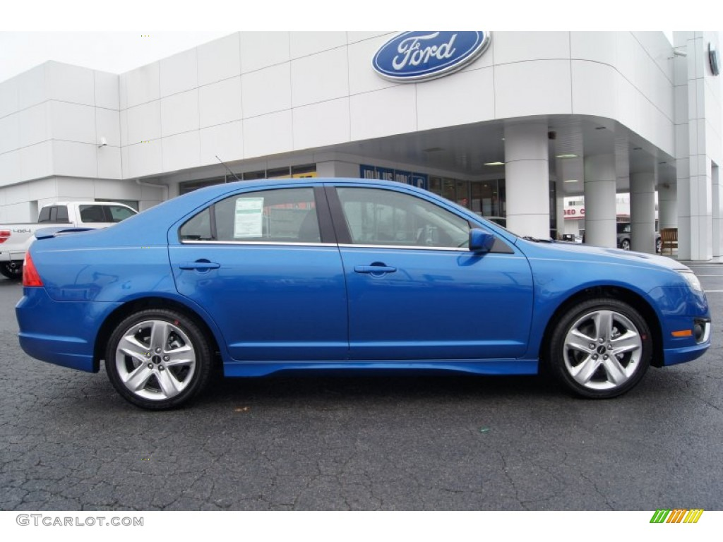 blue flame metallic 2012 ford fusion sport exterior photo 57536224. Black Bedroom Furniture Sets. Home Design Ideas