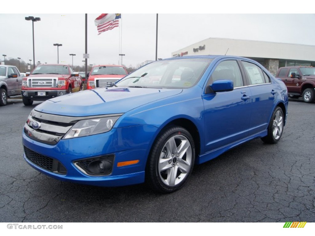 blue flame metallic 2012 ford fusion sport exterior photo 57536248. Black Bedroom Furniture Sets. Home Design Ideas