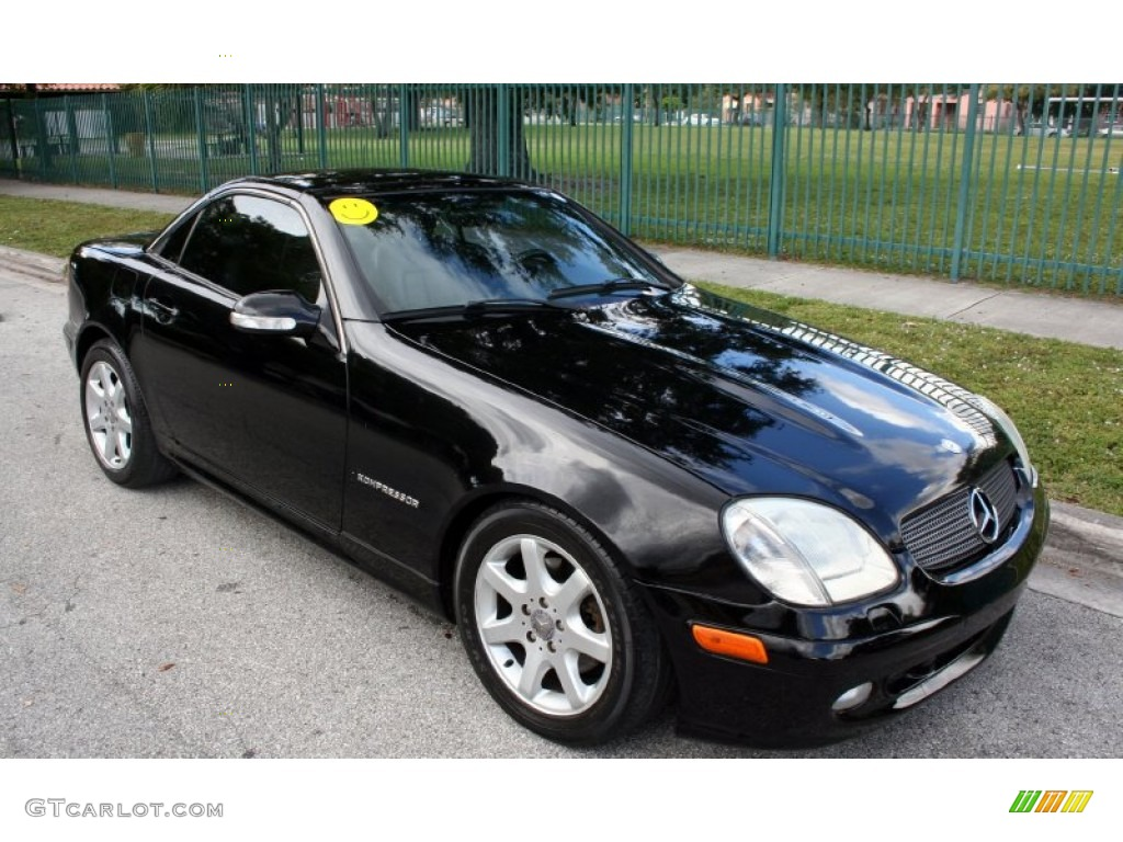 black 2001 mercedes benz slk 230 kompressor roadster