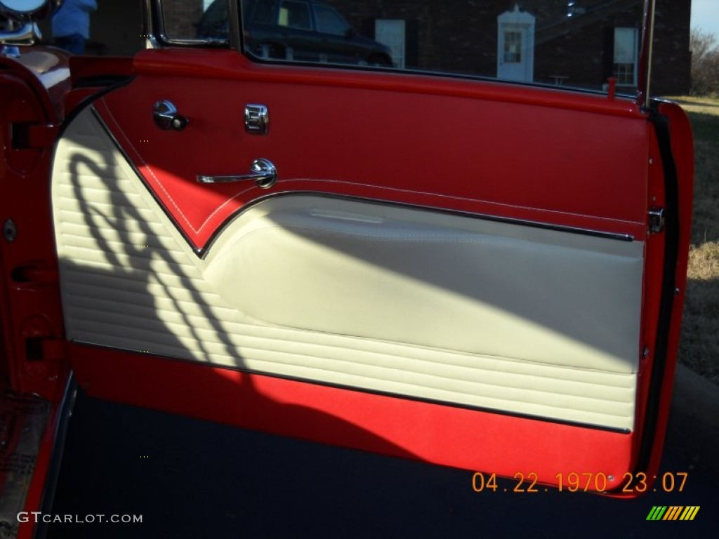 1955 chevrolet bel air 2 door hard top red white door