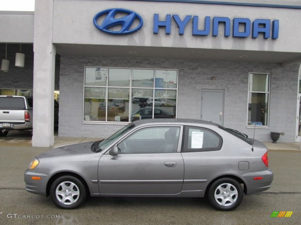 Charcoal Gray Metallic 2003 Hyundai Accent Gl Coupe