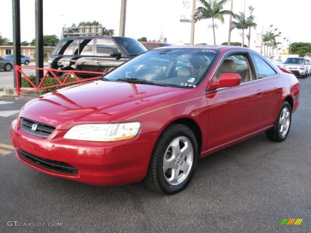 1999 san marino red honda accord ex v6 coupe 57540351 car color galleries. Black Bedroom Furniture Sets. Home Design Ideas