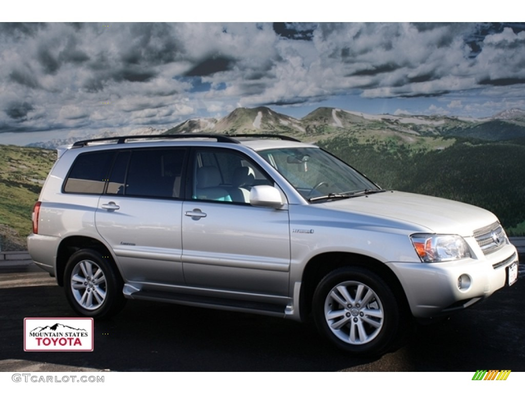2007 millenium silver metallic toyota highlander hybrid limited 4wd 57539607. Black Bedroom Furniture Sets. Home Design Ideas