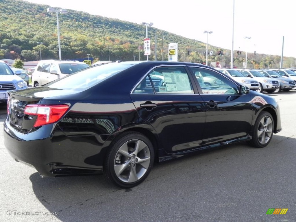 Nice 2012 Camry SE V6   Attitude Black Metallic / Black Photo #13