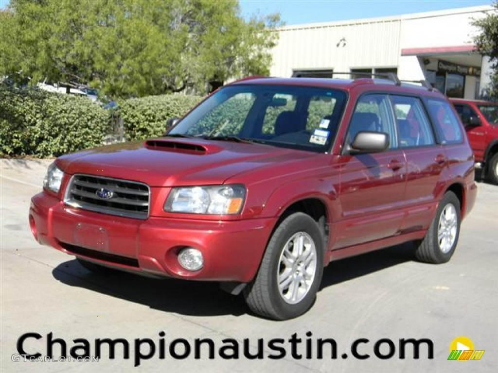2004 cayenne red pearl subaru forester 2 5 xt 57539503. Black Bedroom Furniture Sets. Home Design Ideas