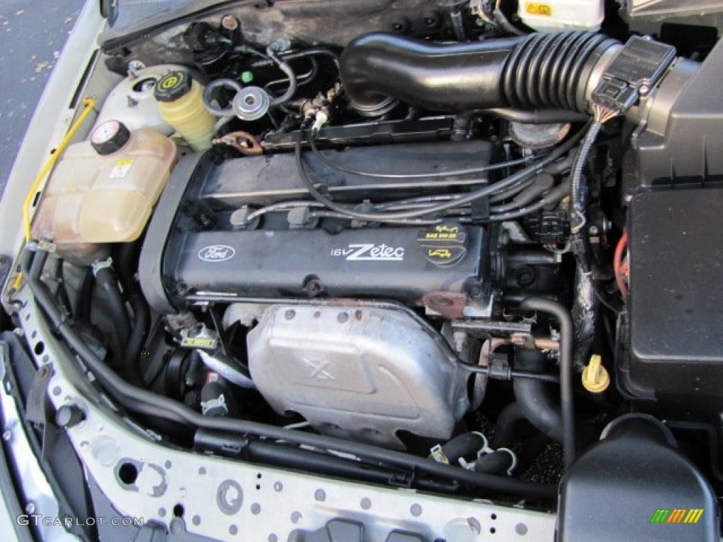 2002 ford focus zts sedan 2 0 liter dohc 16 valve zetec 4 cylinder engine photo