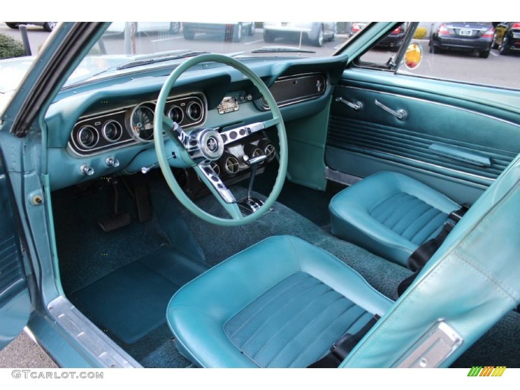 Turquoise Interior 1966 Ford Mustang Coupe Photo 57612931 Gtcarlot Com