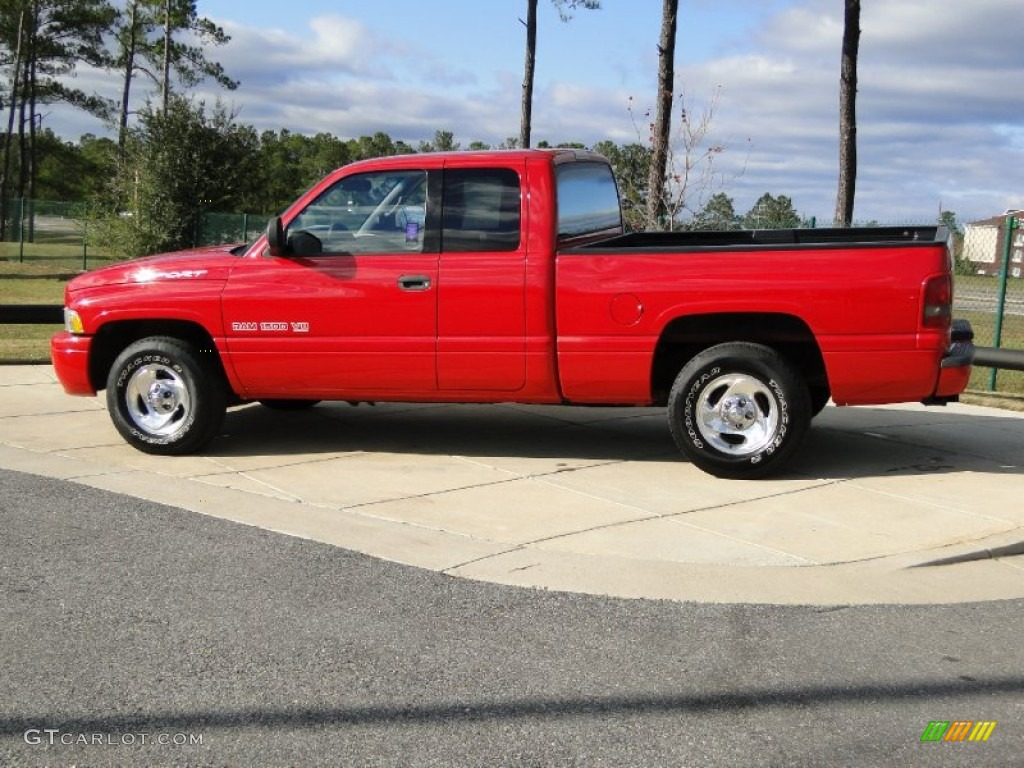 Flame red 1999 dodge ram 1500 sport extended cab exterior photo 57629131