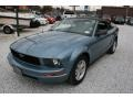2006 Windveil Blue Metallic Ford Mustang V6 Deluxe Convertible  photo #11