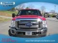 2012 Vermillion Red Ford F250 Super Duty Lariat Crew Cab 4x4  photo #4
