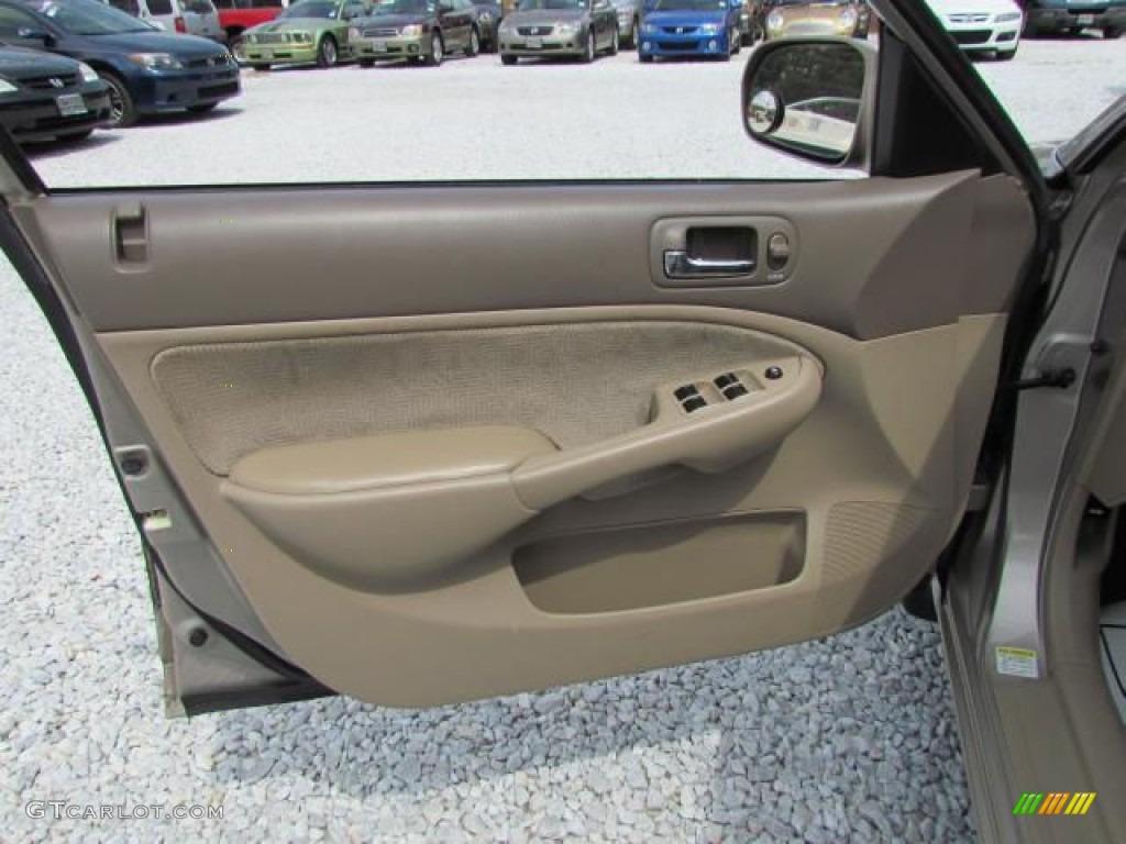 2002 Honda Civic Ex Sedan Beige Door Panel Photo 57647113