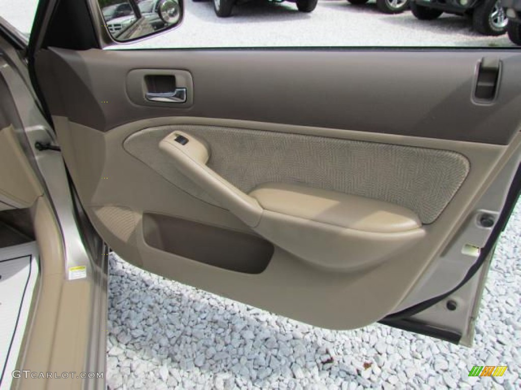 2002 Honda Civic Ex Sedan Beige Door Panel Photo 57647191