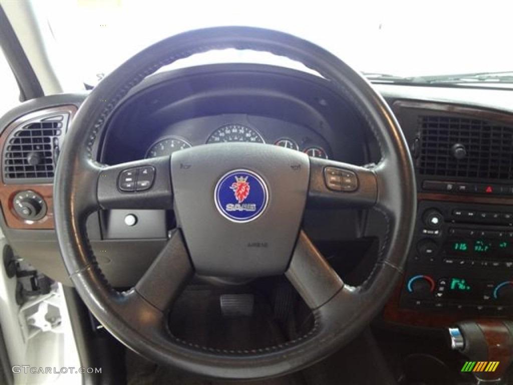 2006 Saab 9 7x 5 3i Desert Sand Leather Steering Wheel