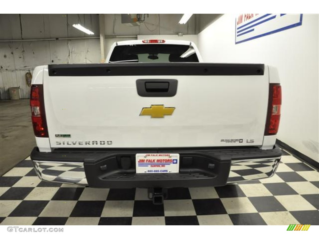 2012 Silverado 1500 LS Extended Cab 4x4 - Summit White / Dark Titanium photo #4