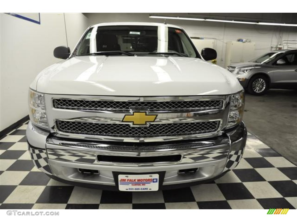 2012 Silverado 1500 LS Extended Cab 4x4 - Summit White / Dark Titanium photo #5