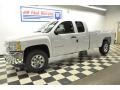 2012 Summit White Chevrolet Silverado 1500 LS Extended Cab 4x4  photo #18