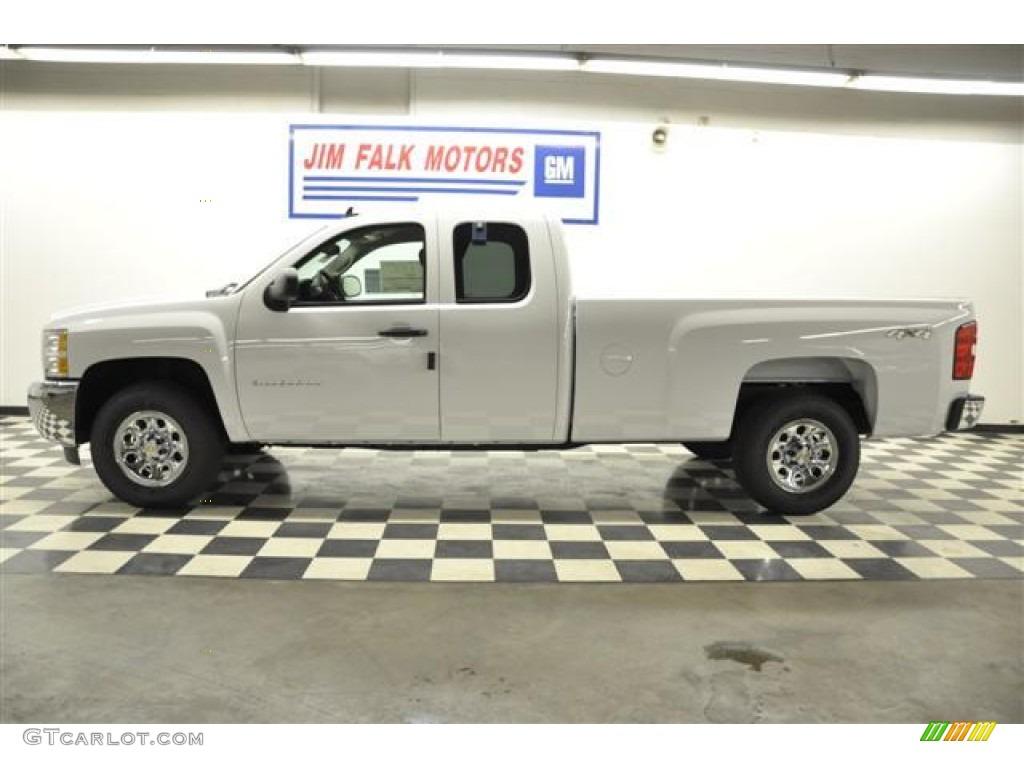 2012 Silverado 1500 LS Extended Cab 4x4 - Summit White / Dark Titanium photo #19