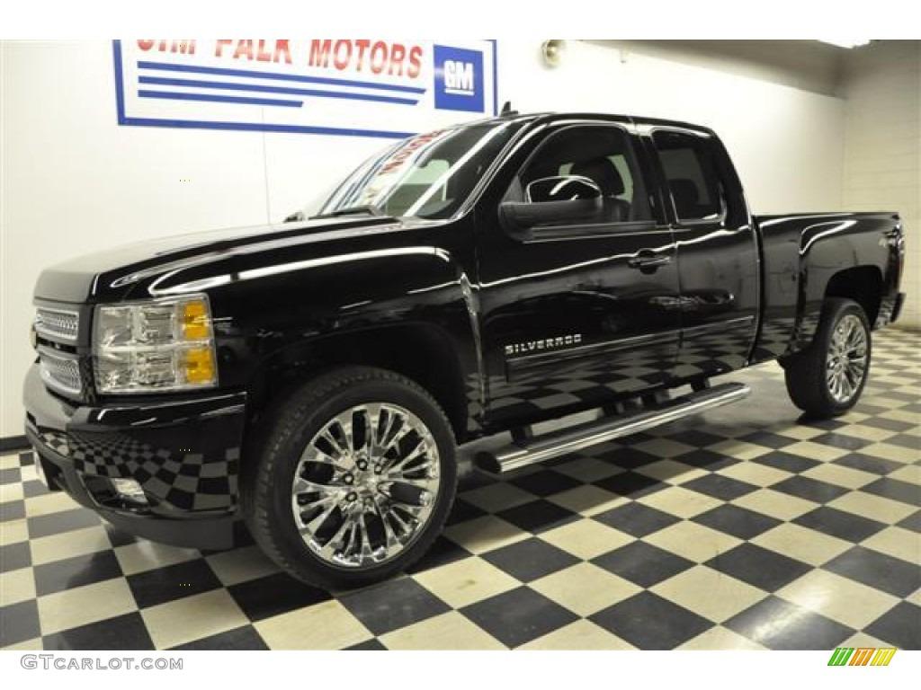 2012 Silverado 1500 LTZ Extended Cab 4x4 - Black / Ebony photo #1