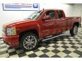 2012 Victory Red Chevrolet Silverado 1500 LTZ Extended Cab 4x4  photo #1