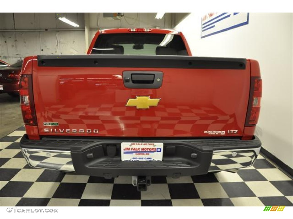 2012 Silverado 1500 LTZ Extended Cab 4x4 - Victory Red / Light Titanium/Dark Titanium photo #5