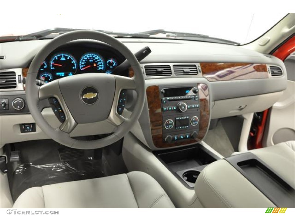 2012 Silverado 1500 LTZ Extended Cab 4x4 - Victory Red / Light Titanium/Dark Titanium photo #12